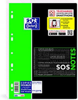 COPIES DOUBLES 21X29,7 400P 5X5 90G PERF SOS NOTES OXFORD