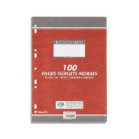FEUILLETS MOBILES 21X29,7 200P PERF SEYES  BLANC 90G